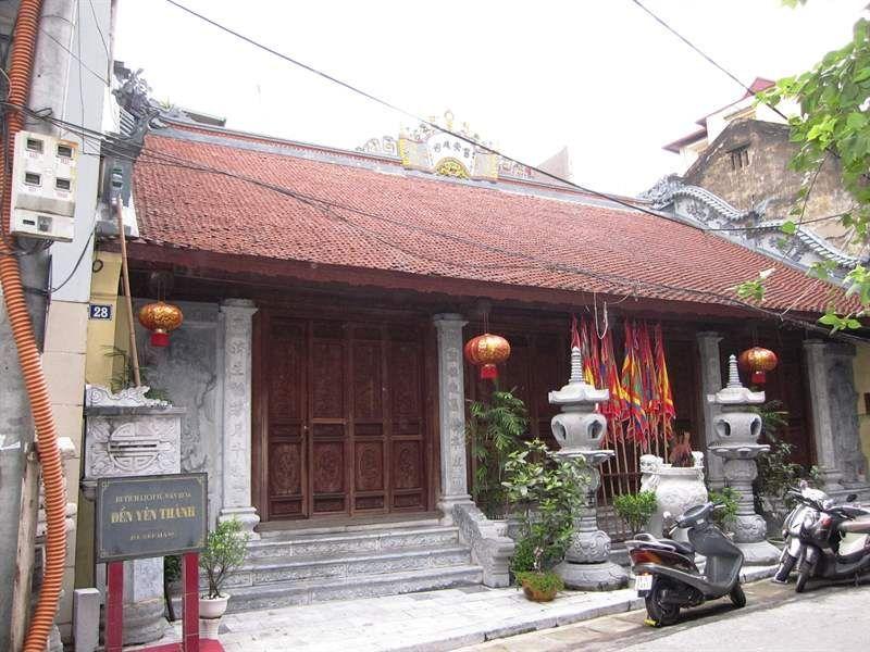 Đền Yên Thành ở số nhà 28 phố Phan Huy Ích, phường Nguyễn Trung Trực, Ba Đình - Hà Nội.thờ công chúa Chiêu Thánh