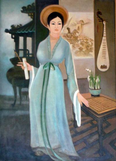 Bức sơn dầu công chúa Ngọc Hân