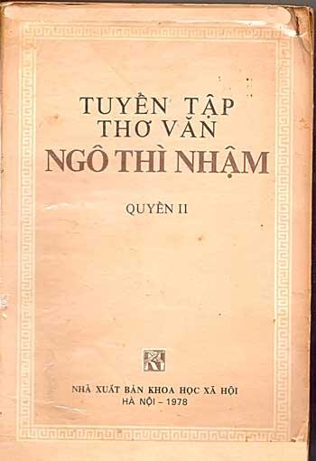 Một bài thơ độc đáo của Ngô Thì Nhậm