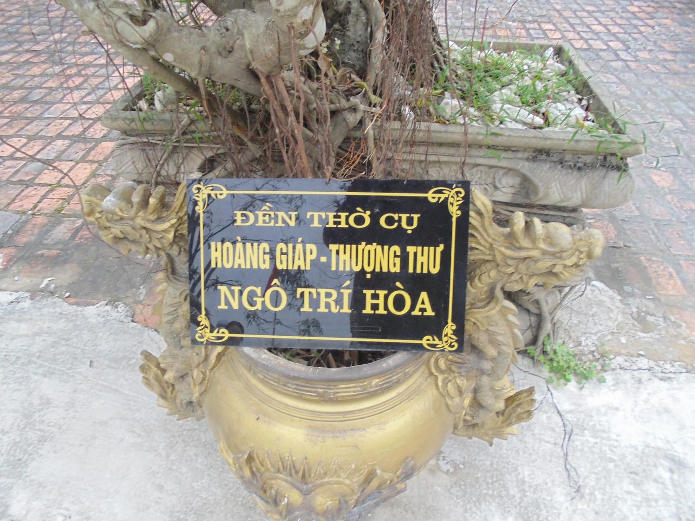 Bảng nhà thờ Ngô Trí Hòa