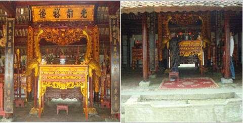 Ban thờ đền Đồng Cần xã Đức Thịnh, huyện Đức Thọ, Hà Tĩnh